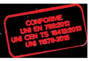 Linee vita certificate uni in acciaio INOX AISI per la Svizzera
